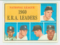 1961 Topps Baseball 45 NL ERA Leaders Very Good to Excellent