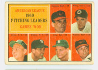 1961 Topps Baseball 48 AL Pitching Leaders Fair to Good