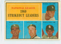1961 Topps Baseball 49 NL Strikeout Leaders Good to Very Good