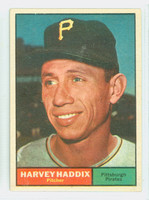 1961 Topps Baseball 100 Harvey Haddix Pittsburgh Pirates Excellent