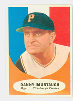 1961 Topps Baseball 138 Danny Murtaugh Pittsburgh Pirates Excellent to Mint