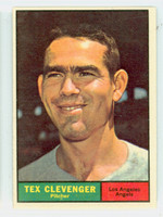 1961 Topps Baseball 291 Tex Clevenger Los Angeles Angels Excellent to Mint