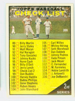 1961 Topps Baseball 98 c Checklist Two YL 98 WHITE  Excellent