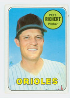 1969 Topps Baseball 86 Pete Richert Baltimore Orioles Excellent to Mint
