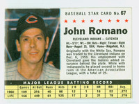 1961 Post Baseball 67 John Romano BOX  Cleveland Indians Very Good