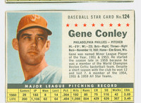 1961 Post Baseball 124 Gene Conley BOX PHI  Philadelphia Phillies Good to Very Good