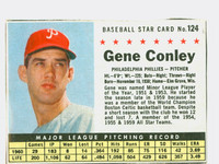 1961 Post Baseball 124 Gene Conley BOX PHI  Philadelphia Phillies Very Good