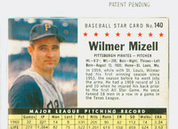 1961 Post Baseball 140 Wilmer Mizell BOX  Pittsburgh Pirates Fair to Good