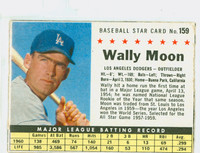1961 Post Baseball 159 Wally Moon BOX  Los Angeles Dodgers Good to Very Good