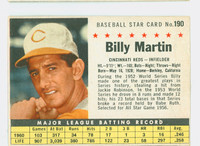 1961 Post Baseball 190 Billy Martin BOX No Sold  Cincinnati Reds Fair to Good
