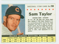 1961 Post Baseball 198 Sam Taylor BOX  Chicago Cubs Fair to Good