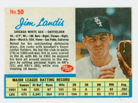 1962 Post Baseball 50 Jim Landis Chicago White Sox Excellent