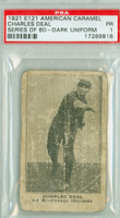 E121 Amer Caramel 80 Series Charles Deal DARK  Chicago Cubs PSA 1 Poor