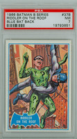 1966 Batman Blue Bat 37 Riddler on the Roof PSA 7 Near Mint Logo