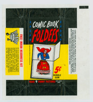 1966 Comic Book Foldees 5 Cent Wrapper NMT