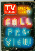 1970 TV Guide September 12 Fall Preview Southern Florida edition Very Good - No Mailing Label  [Small tape on binding; heavy creasing and wear on cover; contents fine]