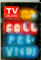 1970 TV Guide September 12 Fall Preview Minnesota State edition Very Good to Excellent - No Mailing Label  [Sl loose at staples, heavy scuffing and creasing on cover; contents fine]