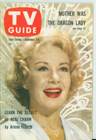 1960 TV Guide Sep 3 Arlene Francis Pittsburgh edition Excellent to Mint - No Mailing Label  [Lt wear on cover, ow very clean]