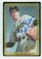Carl Erskine AUTOGRAPH Action Packed Dodgers 