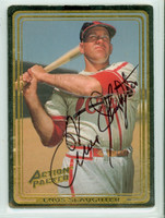 Enos Slaughter AUTOGRAPH d.02 Action Packed Cardinals 