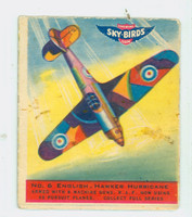 1941 Sky Birds 6 English Hawker Hurricane Good to Very Good