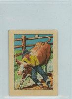 1951 Post Hopalong Cassidy 8 Bull Dogging a Steer Excellent