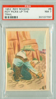 1952 Post Roy Rogers Pop Out 6 Roy Picks Up the Trail PSA 7 Near Mint