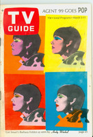 1966 TV Guide Mar 5 Barbara Feldon of Get Smart - Cover by Andy Warhol Eastern Illinois edition Very Good to Excellent - No Mailing Label  [Sl loose at staples, cover wear; staple rust, contents fine]
