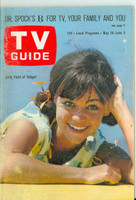 1966 TV Guide May 28 Sally Field as Gidget Montana edition Very Good - No Mailing Label  [Wear and spotting on cover, contents fine]