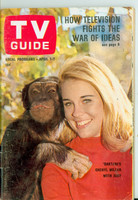 1967 TV Guide Apr 1 Cheryl Miller of Daktari Philadelphia edition Very Good to Excellent - No Mailing Label  [Small tearing at staples, cover wear, creasing; contents fine]