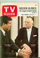 1967 TV Guide Jul 8 The FBI ft: J. Edgar Hoover Western Illinois edition Good to Very Good - No Mailing Label  [Back cover COMPLETELY DETACHED but present; Front nearly detached, contents fine]