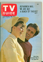 1968 TV Guide Mar 16 Sally Field of the Flying Nun Western Illinois edition Very Good to Excellent - No Mailing Label  [Lt toning on cover; ow clean]