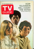 1968 TV Guide Nov 2 Cast of Mod Squad (First Cover) Northern Illinois edition Very Good - No Mailing Label  [Sl loose at staples, cover wear;  contents fine]