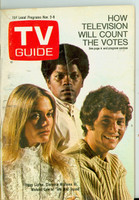 1968 TV Guide Nov 2 Cast of Mod Squad (First Cover) Cleveland edition Good to Very Good - No Mailing Label  [Sl loose at staples, heavy cover wear;  contents fine]