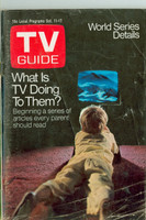 1969 TV Guide Oct 11 TV and Children St. Louis edition Very Good - No Mailing Label  [Loose at staples, wear and creasing on cover;  contents fine]