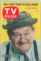 1960 TV Guide Jan 16 Charley Weaver New England edition Good to Very Good - No Mailing Label  [Moisture on cover and sl moisture wrinkling throughout; contents fine]