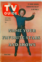 1960 TV Guide Feb 6 Richard Boone as Paladin in Have Gun Will Travel Missouri edition Very Good to Excellent - No Mailing Label  [Toning and lt wear on cover, contents fine]
