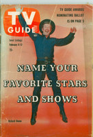 1960 TV Guide Feb 6 Richard Boone as Paladin in Have Gun Will Travel North Carolina edition Very Good - No Mailing Label  [Wear and discoloration on cover, numerous scratches on cover; contents fine]