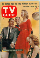 1960 TV Guide Feb 13 Cast of Peter Gunn and Mr Lucky Pittsburgh edition Very Good to Excellent - No Mailing Label  [Lt wear on cover, label removed leaving  residual; contents fine]