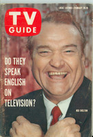1960 TV Guide Feb 20 Red Skelton Chicago edition Very Good - No Mailing Label  [Wear and creasing on cover, contents fine]