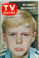 1960 TV Guide Mar 5 Jay North as  Dennis the Menace Cleveland edition Excellent - No Mailing Label  [Lt scuffing on cover; contents fine]