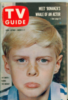 1960 TV Guide Mar 5 Jay North as  Dennis the Menace Chicago edition Excellent - No Mailing Label  [Lt wear on cover, ow clean]