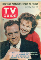 1960 TV Guide Mar 19 Raymond Burr and Barbara Hale of Perry Mason Wisconson edition Excellent  [Lt wear on cover, ow clean]