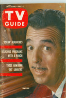 1960 TV Guide Apr 2 Tennessee Ernie Ford Nebraska edition Very Good to Excellent - No Mailing Label  [Wear and scuffing on cover, contents fine]
