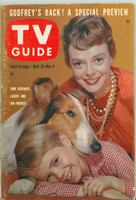 1960 TV Guide Apr 30 Lassie Nebraska edition Excellent - No Mailing Label  [Wear and scuffing on cover, contents fine]