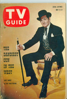 1960 TV Guide May 21 Gene Barry as Bat Masterson St. Lawrence edition Very Good to Excellent - No Mailing Label  [Lt wear on cover, ow clean]