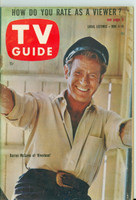 1960 TV Guide Jun 4 Darren McGavin of Riverboat Eastern New England edition Excellent - No Mailing Label  [Lt wear on cover, ow clean]
