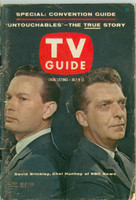 1960 TV Guide Jul 9 Huntley and Brinkley Wisconson edition Very Good - No Mailing Label  [Wear and creasing on cover, contents fine]