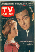 1960 TV Guide Jul 30 Mike Connors of Tightrope Colorado edition Very Good - No Mailing Label  [Heavy wear on binding, cover wear; contents fine]