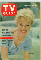 1960 TV Guide Aug 20 Betsy Palmer Oregon State edition Very Good to Excellent - No Mailing Label  [Lt wear on cover, # WRT in logo; ow clean]